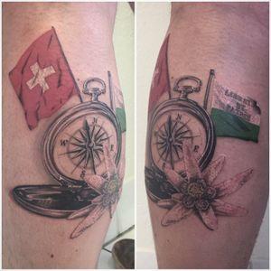 #swistzerland #swisstattoo #swissflag #compasstattoo #compass #edelweiss #edelweisstattoo #realism #realistictattoo #realisticink #mentattoo #calftattoo #petitspoints #lespetitspointsdefanny #tattoolausanne