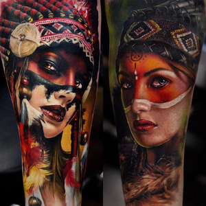 By Andrey Stepanov #indian #indiangirl #realism #realistictattoo #portrait #portraittattoo #stepanovtattoo