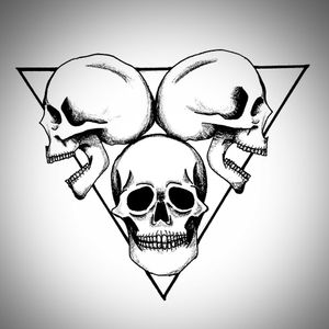 Little flash I made recently! #flash #tattooflash #blackandgrey #skull #pyramid #triangle #modern #neotrad #tattooideas #design