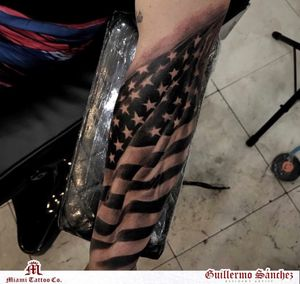 Realistic USA Flag by Guillermo Sanchez text or call 305-393-1950