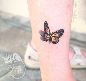 • 3D butterfly • #butterfly #butterflytattoo #cute #small