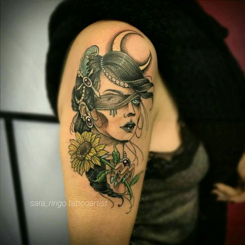 Finalmente finito!! Grazieeeeee ❤ Melissa 😍😍😍 #portraitattoo #portrait #deabendata #ladyluck #tatuaggio #tattoo #tattoobologna #bolognatattoo #castenaso #bologna #eteranaltattooink #neotradsub #neotraditional #neotrad #neotrad #newtrad #thenewtraditionalists #thenewtraditionalistseurope #italiachetatua  #tatuatoriitaliani #tatuatoriitalia #colortattoo #girltattoo #sunflower #sunflowertattoo #tattooedgirl #tattooedgirls #tattooist #gothic #goth #gothgirl