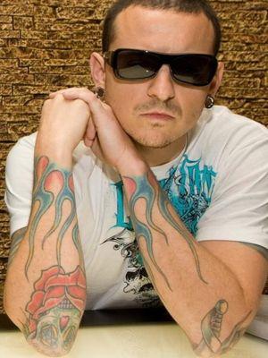 Chester bennington flame tattoos