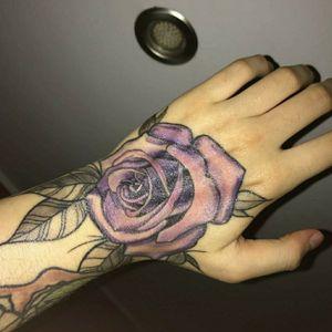 #rosetattoo #neotraditional #colorful #purplerose #tattooart