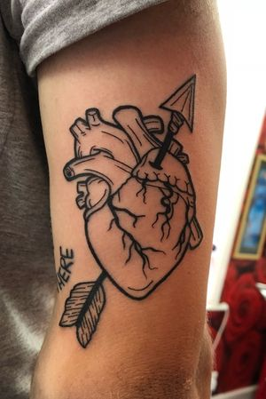 Anatomical heart #anatomicalheart #heart #arrow #heartandarrow #blackwork #linework