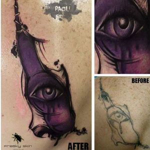 #cover #coverup #beforeaftertattoo #beforeandafter #eye #realistic