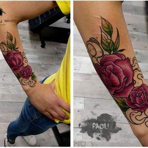 #rose #roses #scars #neotraditionaltattoo #neotraditional #paoli #freakyskin