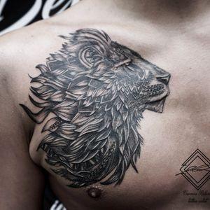 Lion tattoo by :Roland #liontattoos #tattoos #budapesttattoo
