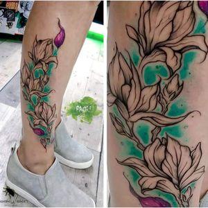 #floral #flower #flowers #watercolor #neotraditional #paoli #freakyskin