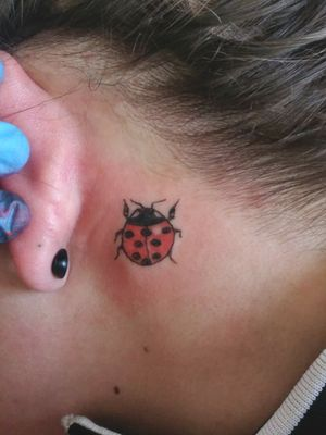 My ladybug tattoo in memory of my uncle that passed away. It's faded now and needs a touch up, but I still love it .