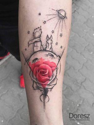 Little prince by:Doresz #chocotattooszalon #budapesttattoo #tattooartist #tattooart