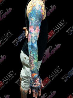 Winner of best large tattoo. Tattoo and art Extravaganza