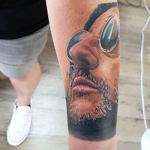 Tattoo by Jo Talbot #JoTalbot #leontheprofessionaltattoos #LeonTheProfessional #movietattoos #film #Leon #realism #realistic #portrait