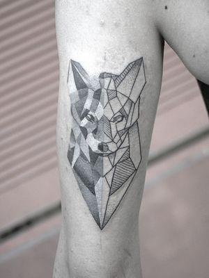 geometry▪️wolf @thispillthings #blackminimaltattoo #minimaltattoo #geometrictattoo #dotworktattoo #geometry #black #grey #ink #inkwell #inked #instatattoo #instadaily #instahun #tattoo #budapesttattoo #budapest #hungarytattoo #chocotattoo #hungary #tattooartist #inkstinctsubmission #dailyart #art #tattoogram