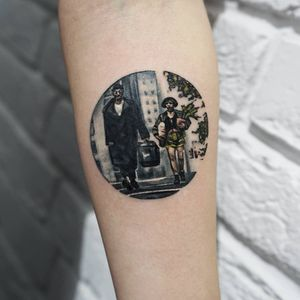 Tattoo by Ksu Arrow #KsuArrow #leontheprofessionaltattoos #LeonTheProfessional #movietattoos #film #leon #Mathilda #color #watercolor #realistic #realism #plant