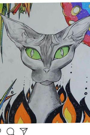 #cat #colorfultattoo #color