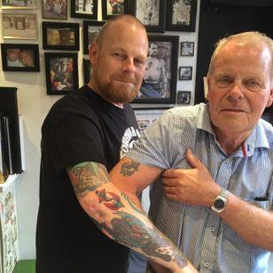 New and vintage tattoo from Tattoo Ole #TattooOle #Denmark