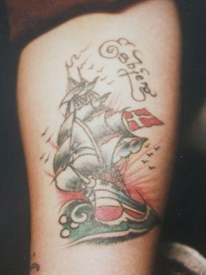 Vintage tattoo from Tattoo Ole #TattooOle #Denmark #vintage