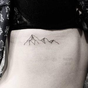 #mountains #lineworktattoo #RibsTattoo