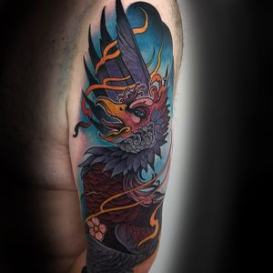 #pheonix #tattooartist #neotraditional #bird #color