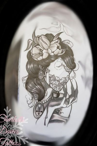 Design I've done... already snapped up within 24 hours of it being drawn... #blackworktattoo #design #witch #graveyard