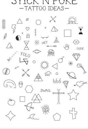 Simple Minimalistic tattoos