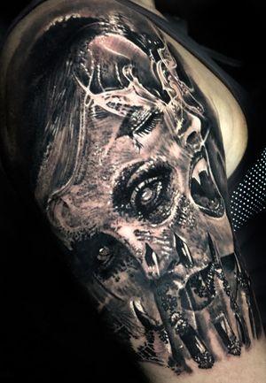 Started a new sleeve today. Progress. #tattoo #tattoos #tattooartist #BishopRotary #BishopBrigade #BlackandGreytattoo #QuantumInk #ImmortalAlliance #SullenClothing #SullenArtCollective #Sullen #SullenFamily #TogetherWeRise #ArronRaw #RawTattoo #TattooLand #InkedMag #Inksav#BlackandGraytattoo #tattoodoapp #tattoodo @tattoodo