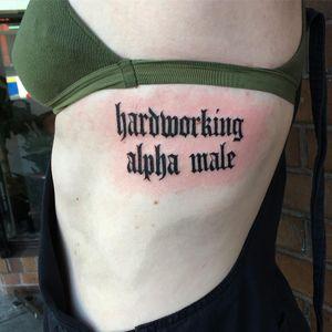 Tattoo by Nina Chwelos #NinaChwelos #lettering #text #oldenglish