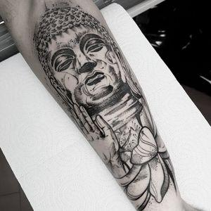 Buddha.  #blackwork #thebesttattooartists