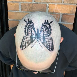 Tattoo by Nina Chwelos #NinaChwelos #illustrative #linework #fineline #butterfly #wings #insect