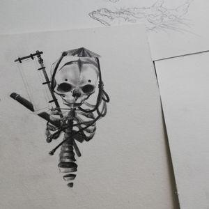 Little Samouraï spririt 🍂 #tattoo #paris #skull #samourai #francetattoo #japan #blackjapan #realistictattoo #draw #blacktattoo #BlackworkTattoos #blackandgreytattoo #inked #naokotattoo #skulltattoo #spirit #japanspirit