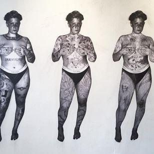 Illustration mixed media by Nina Chwelos #NinaChwelos
