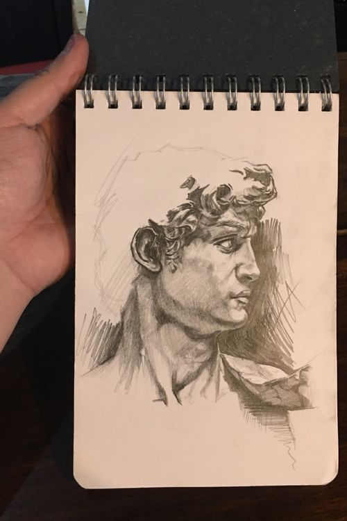 David. Pencil on sketchbook.