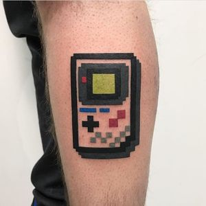 PIXEL GAME BOY DESTRUTTURATO STYLE. Done at Mambo Tattoo Shop in Meda, Italy.