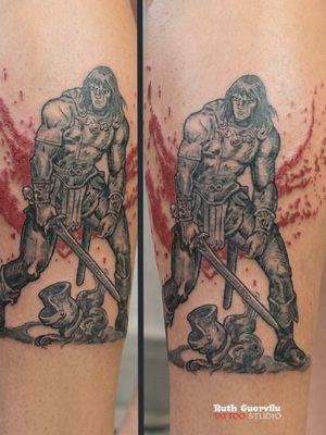 Ruth Cuervilu Tattoo: Conan the Barbarian.