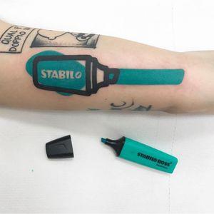 STABILO DESTRUTTURATO STYLE. Done at Mambo Tattoo Shop in Meda, Italy.