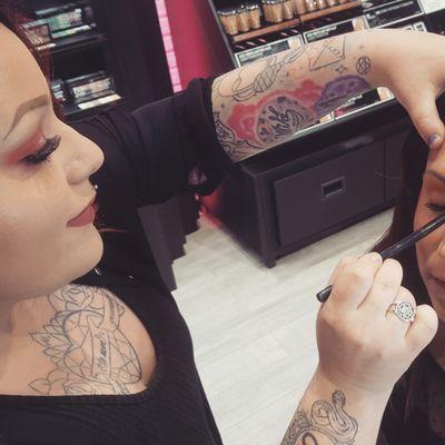 🕸️🖤My second passion, my job🖤🕸️ #tattoos #tattooed #tatuada #tatuajes #alternativegirl #inked #inkedgirl #chest #chestpiece #chesttattoo #makeup #makeupartist #maquillaje #maquilladora #lipstick #lipsticktattoo #witchcraft #witch