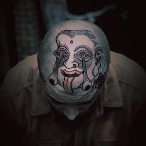 Tattoo by Bang Ganji #BangGanji #monstertattoo #yokai #Japanese #illustrative #ghost #monster #demon #portrait #eyes #weird #strange #surreal