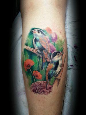Second session serilophus full colors by @thedoud93 #serilophuslunatus #tattoobird #tattoocolor #colortattoo #colortattoos #realisticbird #realistictattoos #tattooistartmagazine #realisticart #realisticinktattoo #thedoud #worktattoo #tattooworker