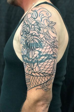 Outline.  #neotraditional #newschool #philly #philadelphia #color #BoldTattoos #coverup #coveruptattoo