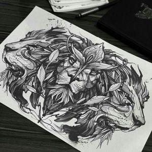 #lion#liontatoo#tatoo#black