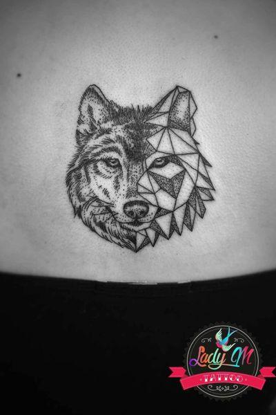 #wolf #wolftattoo #wilk #black #dots #blackwork #geometric #dotwork #realistictattoo #smalltattoo