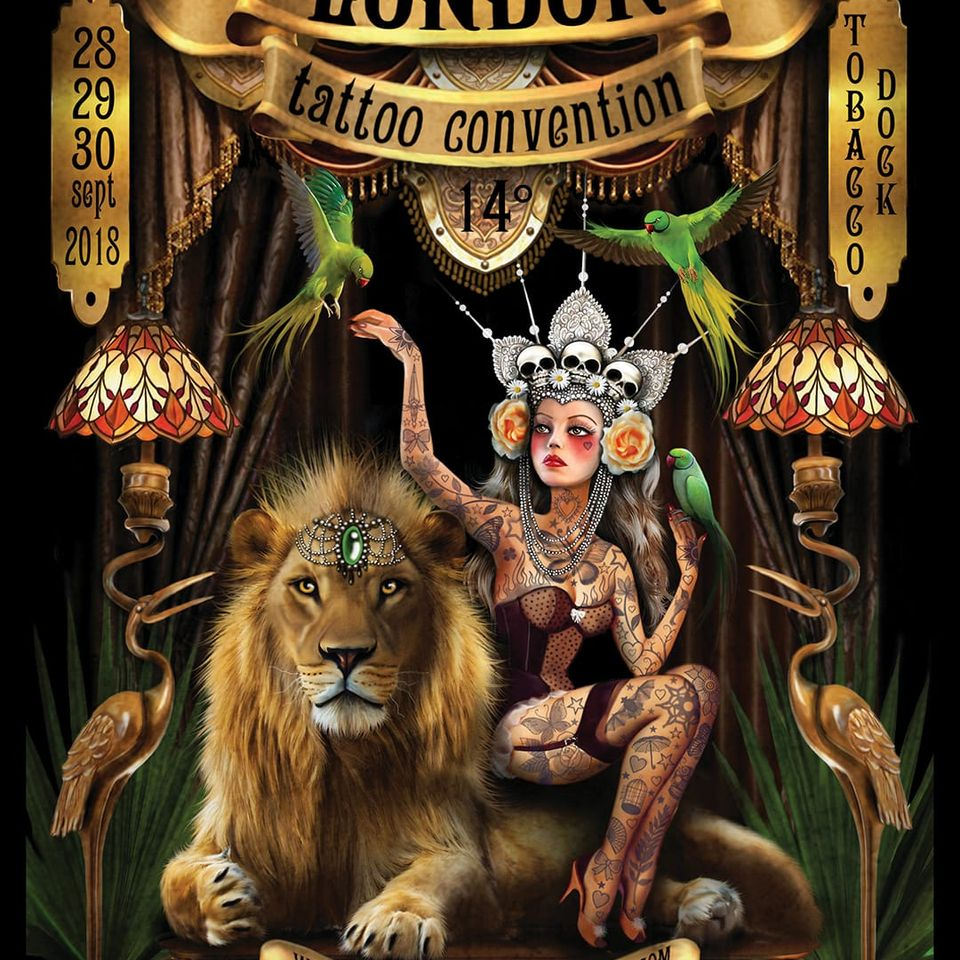 London Tattoo Convention 2018 Poster by Claudia Ducalia #ClaudiaDucalia #LondonTattooConvention