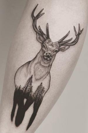 Dot lines tattoo
