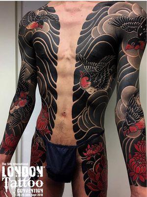 Tattoo by Gakkin #Gakkin #LondonTattooConvention