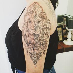 #tattoolion#tattoomandala#tattoogirl#inked