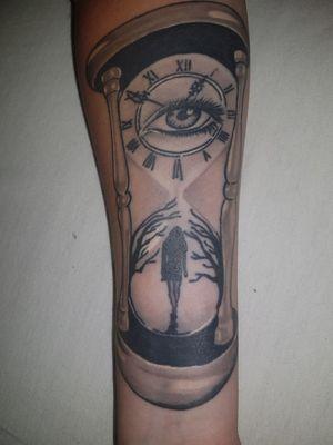 #hourglasstattoo #woman #eye #time #trees