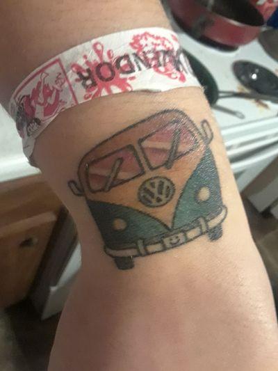 Volkswagen bus #volkswagen #Bus #cars #Hippie #peace #wrist #wristtattoo