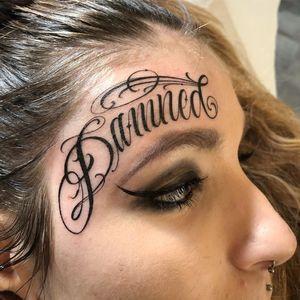 Tattoo by brigantetattoo #brigantetattoo #letteringtattoos #lettering #text #quote #script #filigree
