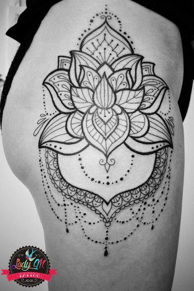 #tattoo #black #lines #blackwork #lotostattoo #mandala #mandalatattoo #mandala #lotos #hiptattoo #jewel #jewellerytattoo #lotusmandala #lotusmandalatattoo #boldline #fineline